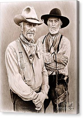 Texas Rangers Gus And Woodrow Canvas Print
