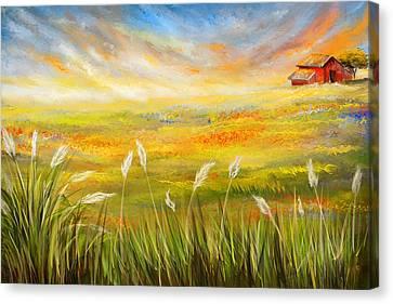 Texas Scene - Texas Art Canvas Print by Lourry Legarde