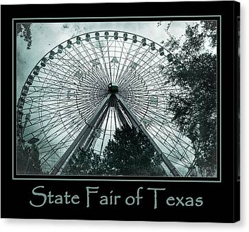 Texas Star Aqua Poster Canvas Print by Joan Carroll