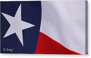 Texas Star Canvas Print by Roena King