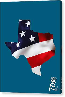 Texas State Map Collection Canvas Print by Marvin Blaine