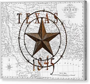 Texas Statehood 1845 Canvas Print by Daniel Hagerman