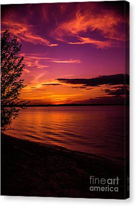 Lake Wylie Canvas Print - Texas Sunset by Mark Boomhower