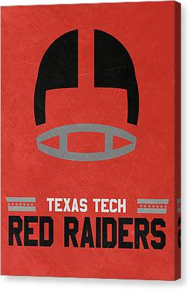 March Canvas Print - Texas Tech Red Raiders Vintage Football Art by Joe Hamilton