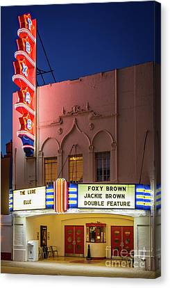 Texas Theater Canvas Print by Inge Johnsson