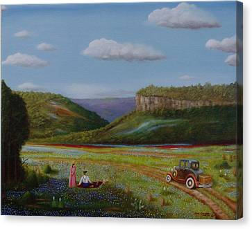 Canvas Print featuring the painting Texas Travelers Giclee by Gene Gregory