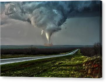 Canvas Print featuring the photograph Texas Twister by James Menzies