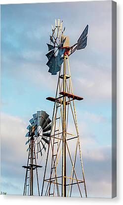 Pioneer Museum Canvas Print - Texas Windmills by Art Block Collections