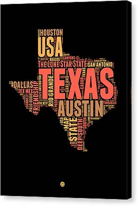 4th Canvas Print - Texas Word Cloud 1 by Naxart Studio