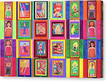 Texting Itrash Divas Canvas Print by Ricky Gagnon
