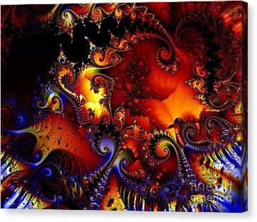 Texture Of Jackolantern Canvas Print