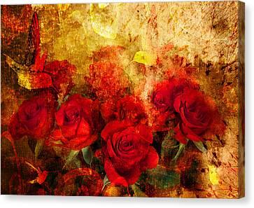 Texture Roses Canvas Print