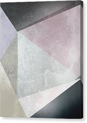 Abstract Rose Abstract Canvas Print - Textured Geometric Triangles by Pati Photography