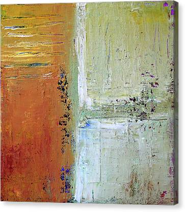 Canvas Print featuring the painting Textured Square No 1 by Nancy Merkle