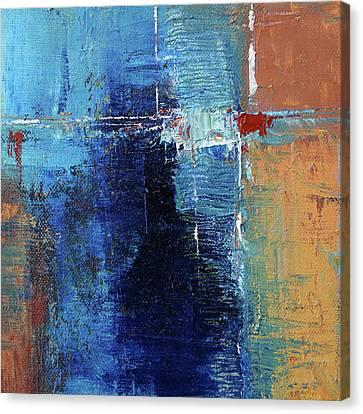 Canvas Print featuring the painting Textured Square No. 2 by Nancy Merkle