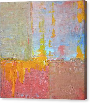 Canvas Print featuring the painting Textured Square No. 3 by Nancy Merkle