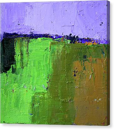 Canvas Print featuring the painting Textured Square No. 4 by Nancy Merkle