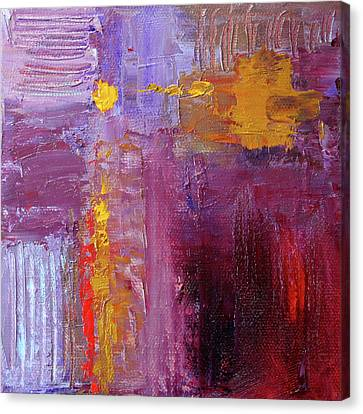 Canvas Print featuring the painting Textured Square No. 5 by Nancy Merkle