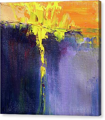 Canvas Print featuring the painting Textured Square No. 7 by Nancy Merkle