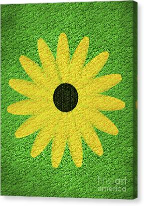 Canvas Print featuring the digital art Textured Yellow Daisy by Smilin Eyes  Treasures