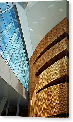 Textures And Light Inside Oslo Opera House Canvas Print