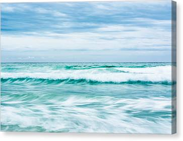 Textures In The Waves Canvas Print by Shelby  Young