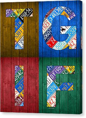 Tgif Thank Goodness Its Friday Recycled Vintage License Plate Art Letter Sign Canvas Print