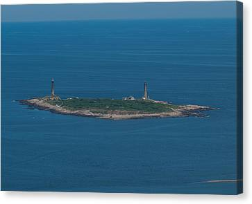 Canvas Print featuring the photograph Thacher Island Lights by Joshua House