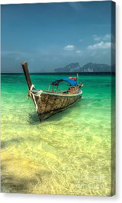Thai Longboat  Canvas Print by Adrian Evans