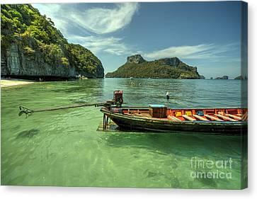 Angthong Canvas Print - Thai Longtail  by Rob Hawkins