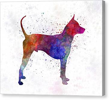 Ridgeback Canvas Print - Thai Ridgeback Dog In Watercolor by Pablo Romero