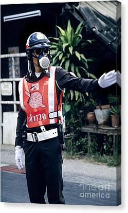 Thai Traffic Officer Canvas Print by Inga Spence