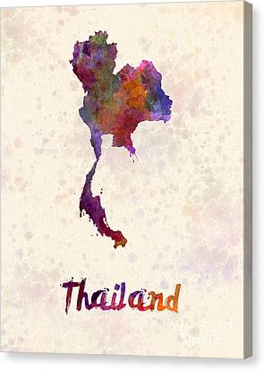 Thailand In Watercolor Canvas Print