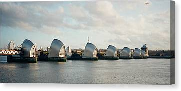 Thames Barrier Canvas Print by Dorothy Berry-Lound