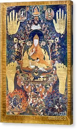 Tibetan Canvas Print - Thangka: Dalai Lama by Granger