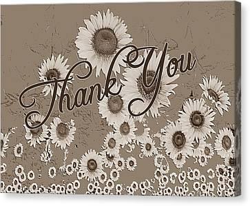 Thank You Card Daisies Canvas Print