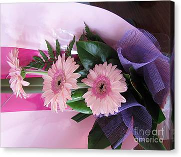 Thank You Flowers Canvas Print by Joyce Woodhouse