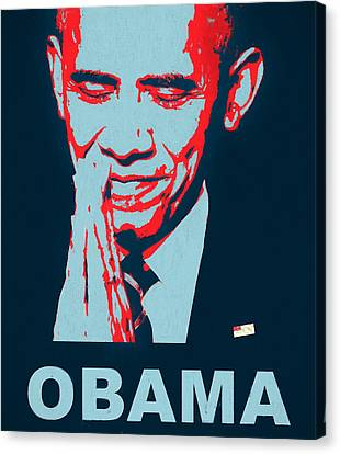Obama Poster Canvas Print - Thank You President Obama by Dan Sproul