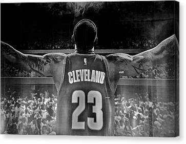 Thanks Lebron Canvas Print by Frozen in Time Fine Art Photography