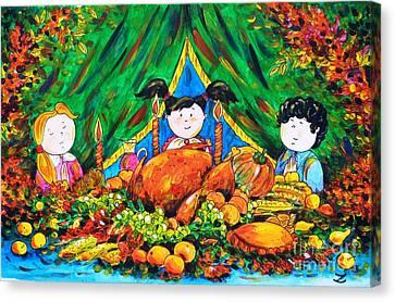 Thanksgiving Day Canvas Print by Zaira Dzhaubaeva