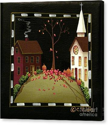 Thanksgiving In Kirkwood Village  Canvas Print by Catherine Holman