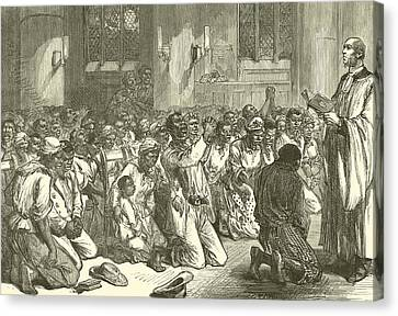 Thanksgiving Service At Midnight For The Emancipation Of The Slaves Canvas Print