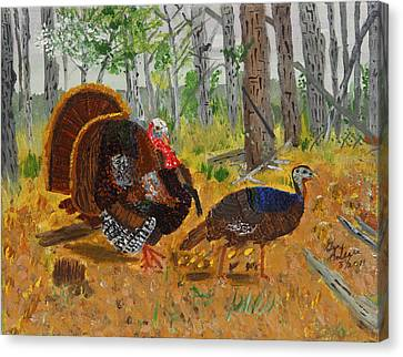 Thanksgiving Turkey Canvas Print by Swabby Soileau