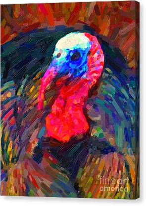 Thanksgiving Turkey Canvas Print by Wingsdomain Art and Photography