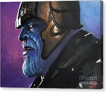 Thanos Canvas Print by Tom Carlton