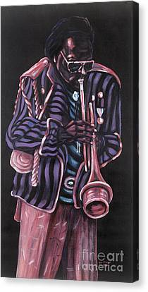 thanx Miles Davis Canvas Print by George Chacon