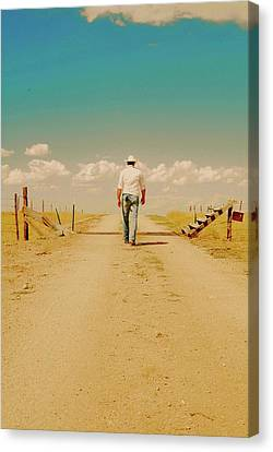 That Dusty Road Canvas Print by Amanda Smith