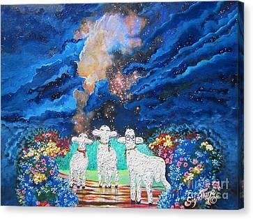 That Eerie,spooky, Magical Cloud Canvas Print