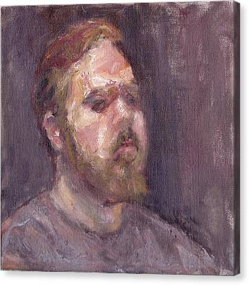 That Look - Contemporary Impressionist Portrait Canvas Print