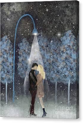 Snowy Night Canvas Print - That Magic Moment by Bleu Bri